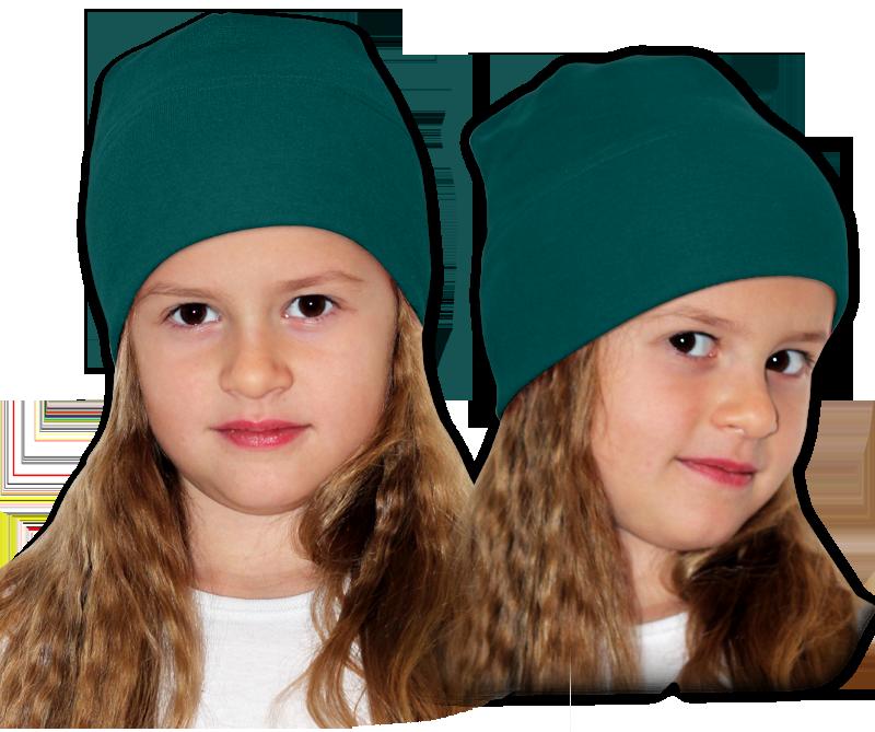 Čepice zelenomodrá