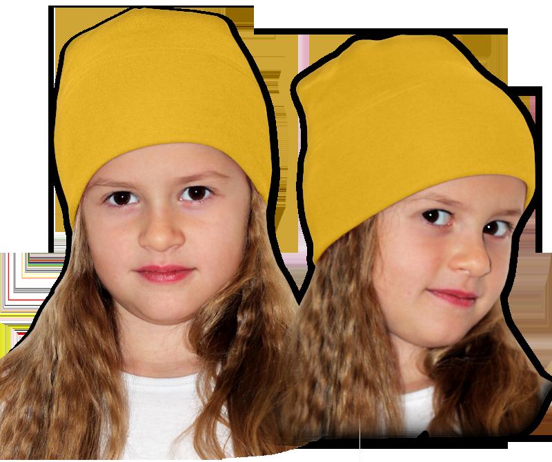 Čepice žlutá