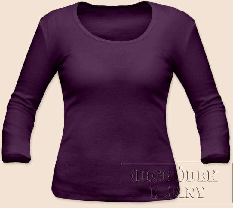 Dámské tričko 3/4 rukáv fialové