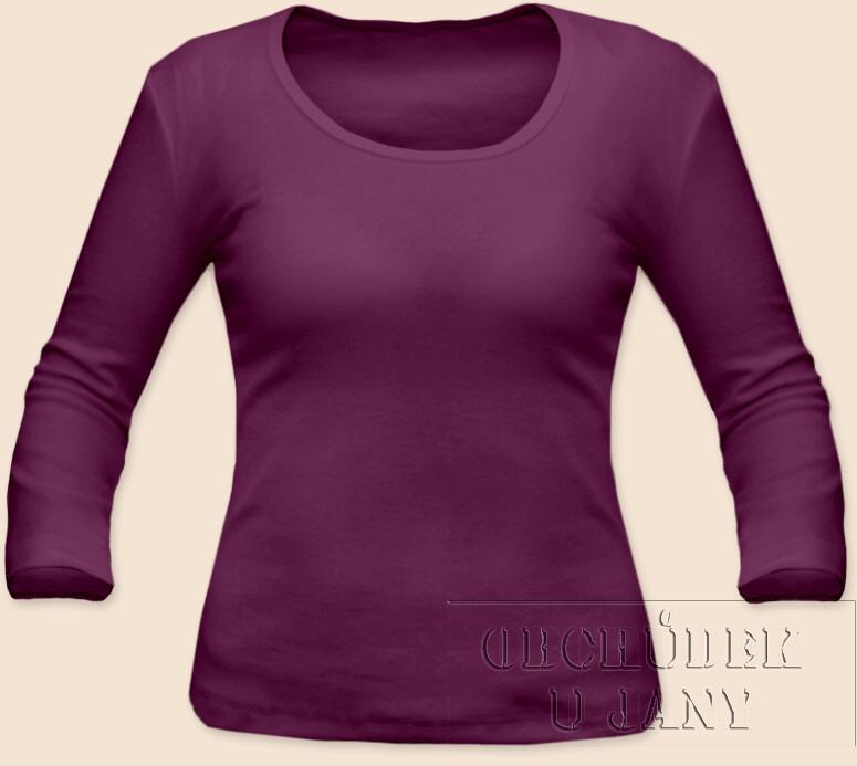 Dámské tričko 3/4 rukáv fialovo-růžové