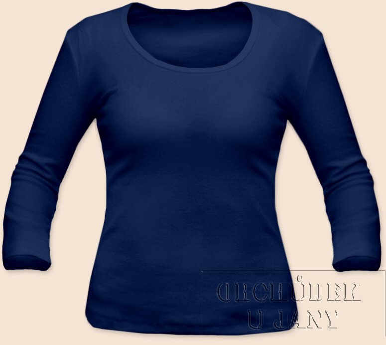 Dámské tričko 3/4 rukáv modré