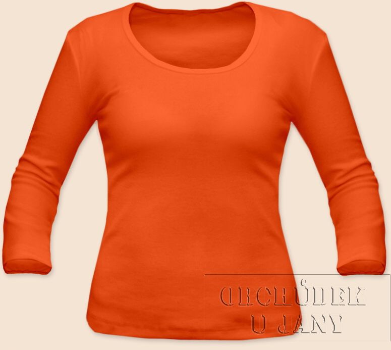 Dámské tričko 3/4 rukáv oranžové tmavé