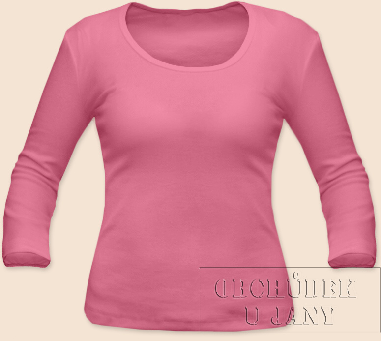 Dámské tričko 3/4 rukáv růžové