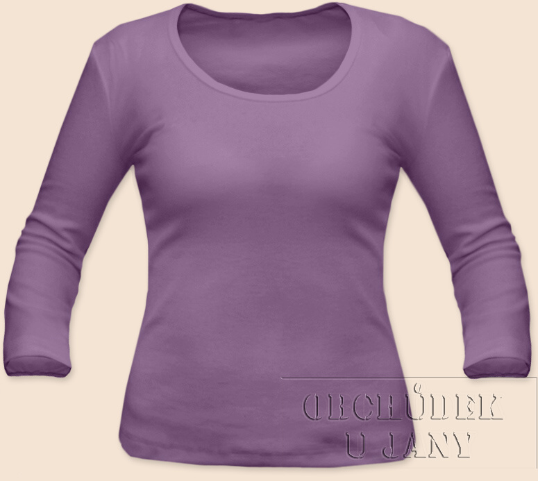 Dámské tričko 3/4 rukáv fialové šeříkové