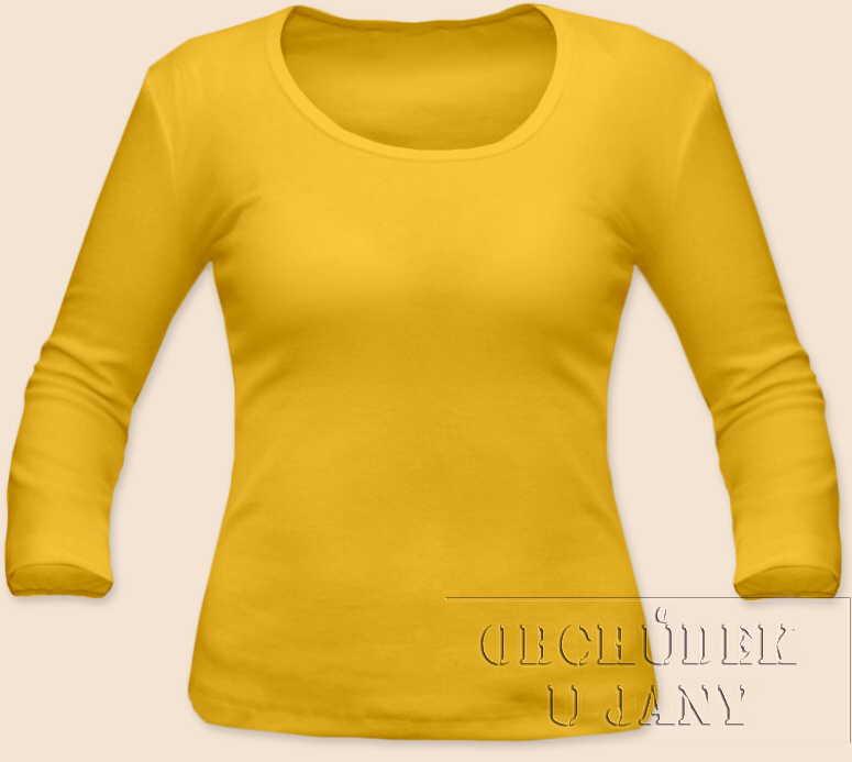 Dámské tričko 3/4 rukáv žluté
