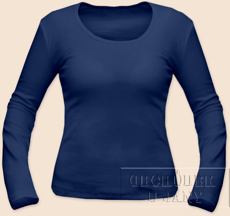 Dámské tričko dlouhý rukáv modré