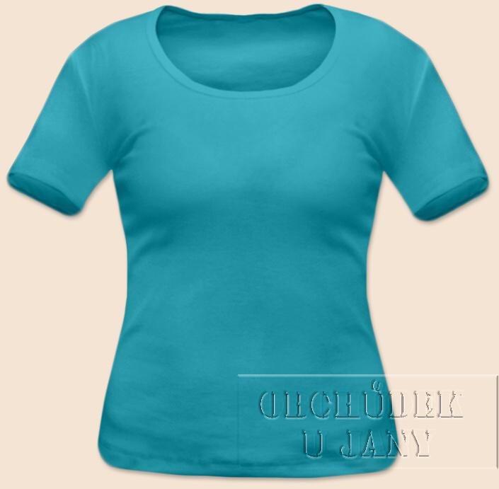 Dámské tričko krátký rukáv modré tyrkysové