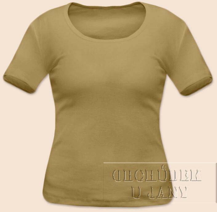 Dámské tričko krátký rukáv béžové