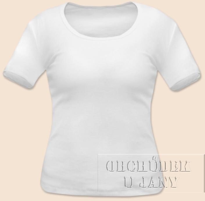 Dámské tričko krátký rukáv bílé