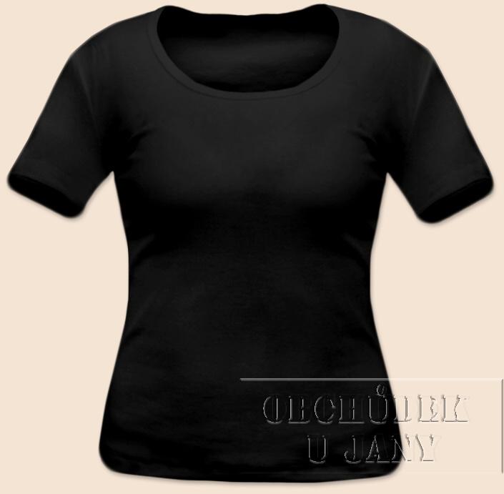 Dámské tričko krátký rukáv černé
