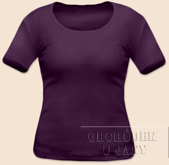 Dámské tričko krátký rukáv fialové