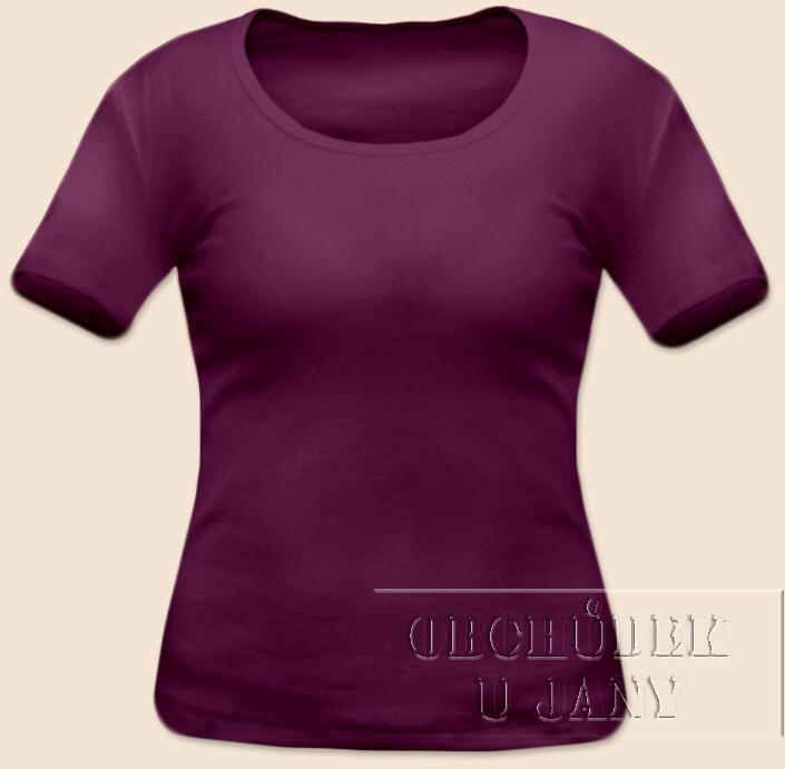Dámské tričko krátký rukáv fialovo-růžové