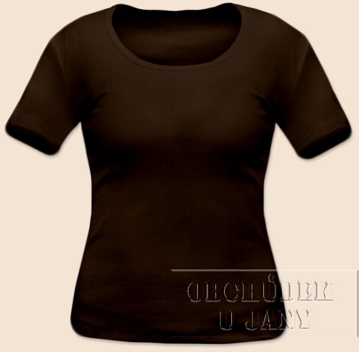 Dámské tričko krátký rukáv hnědé