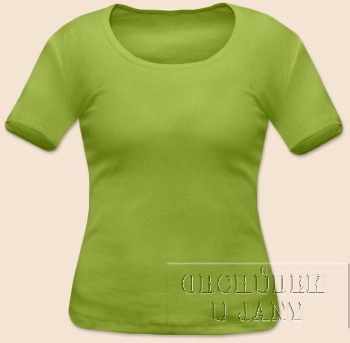 Dámské tričko krátký rukáv zelené hráškové