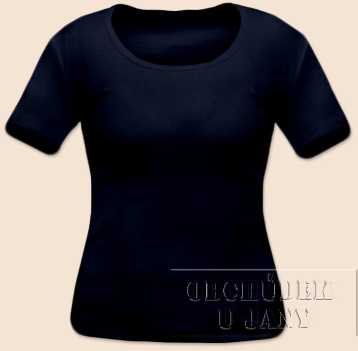 Dámské tričko krátký rukáv modré inkoustové
