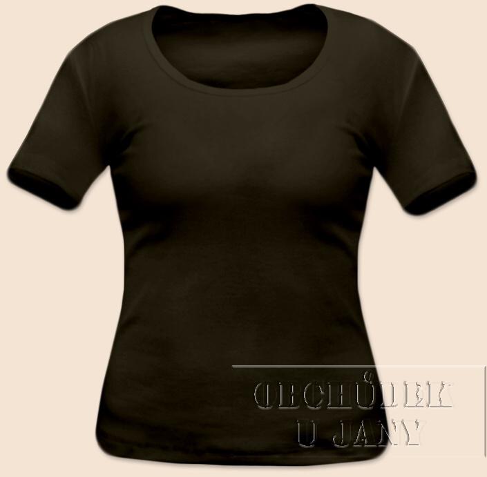 Dámské tričko krátký rukáv khaki