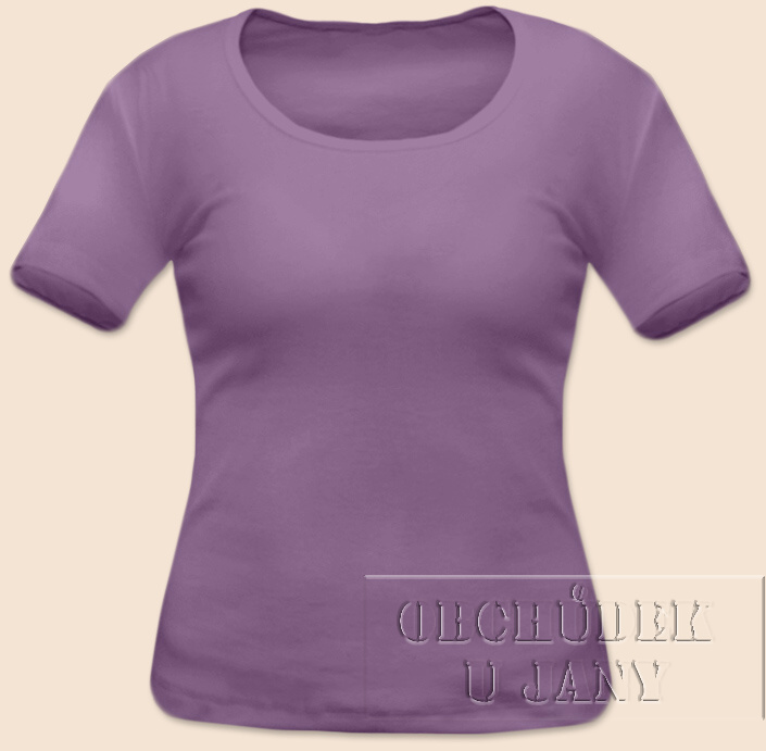 Dámské tričko krátký rukáv fialové šeříkové