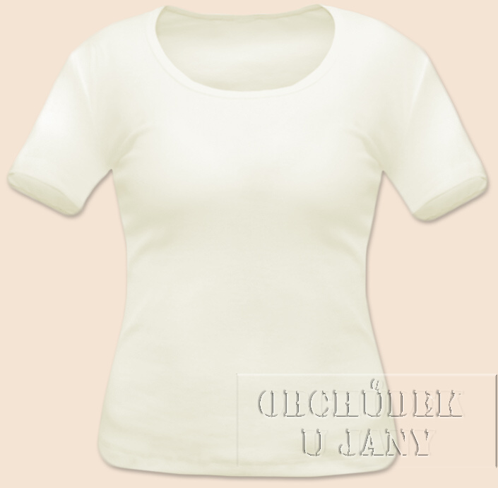 Dámské tričko krátký rukáv žluté máslové