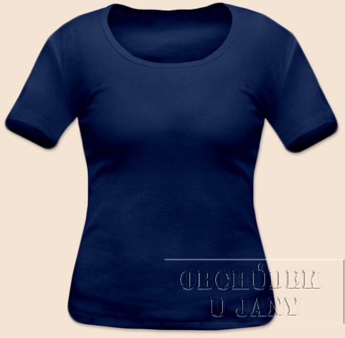 Dámské tričko krátký rukáv modré
