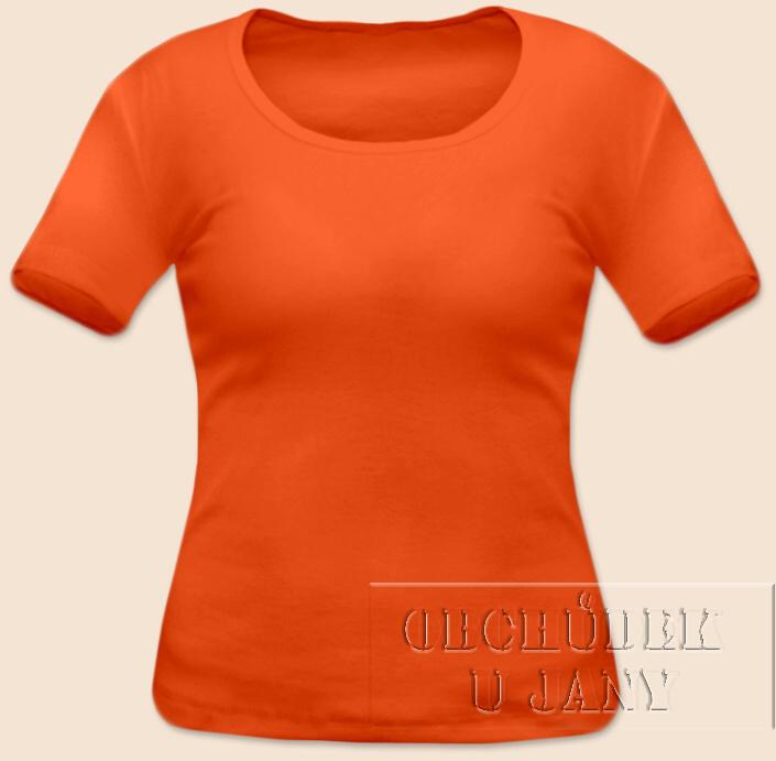 Dámské tričko krátký rukáv oranžové tmavé