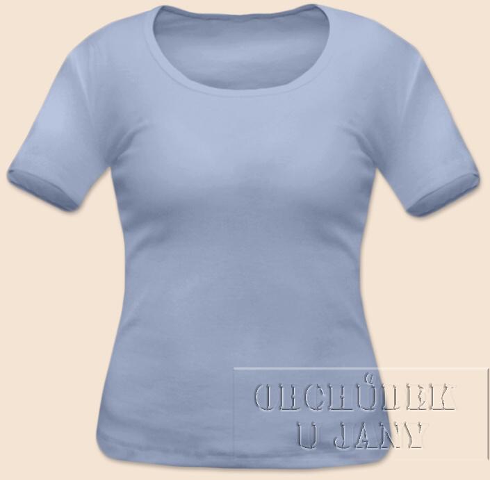 Dámské tričko krátký rukáv modré pomněnkové
