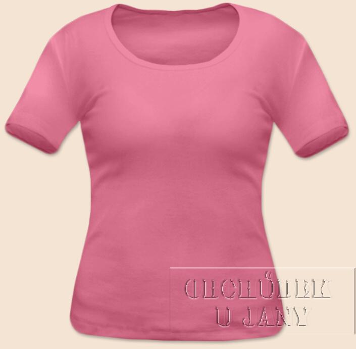 Dámské tričko krátký rukáv růžové
