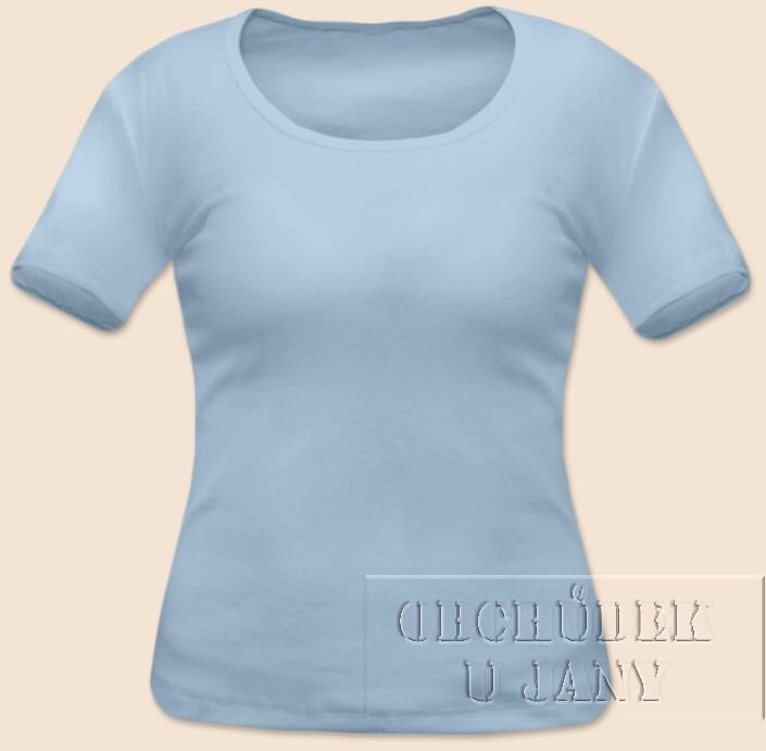 Dámské tričko krátký rukáv modré světlé