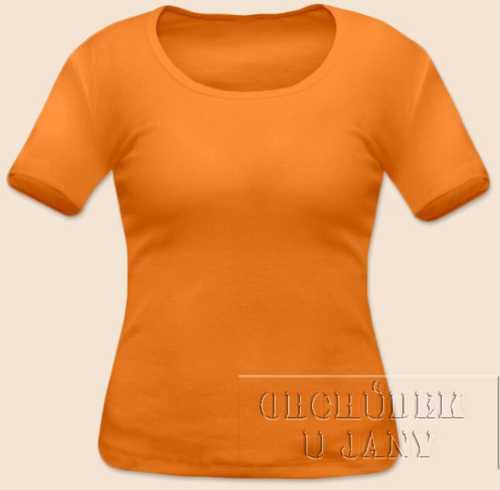 Dámské tričko krátký rukáv oranžové světlé