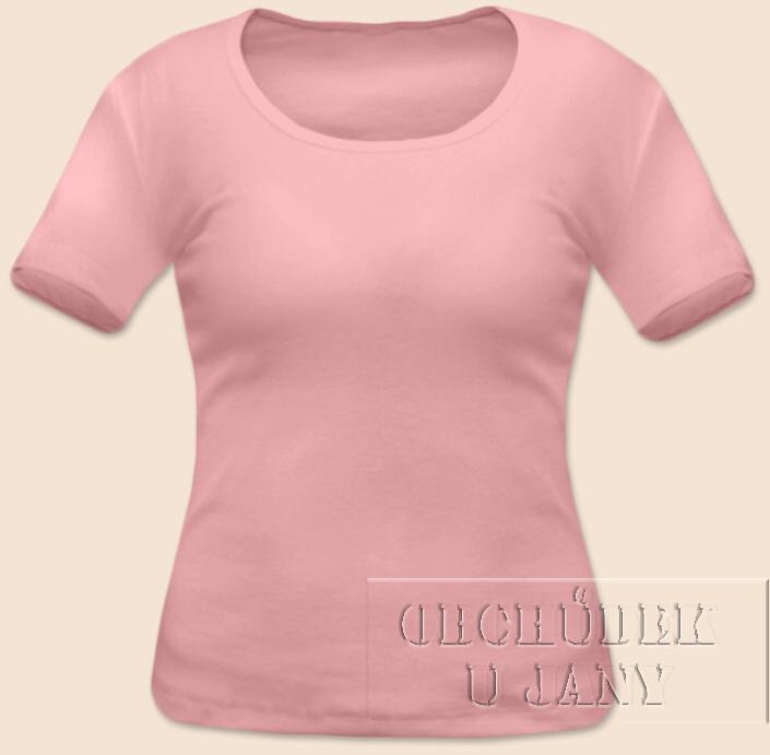 Dámské tričko krátký rukáv růžové světlé