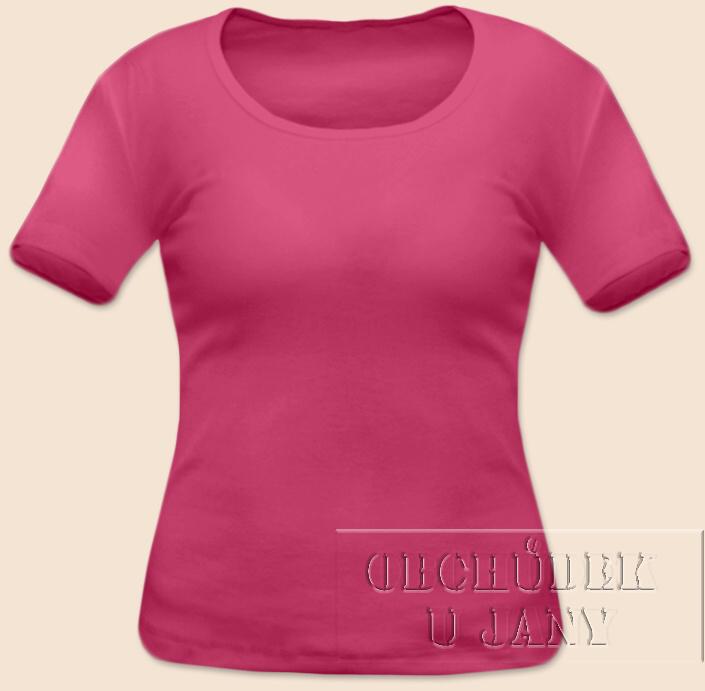 Dámské tričko krátký rukáv růžové tmavé