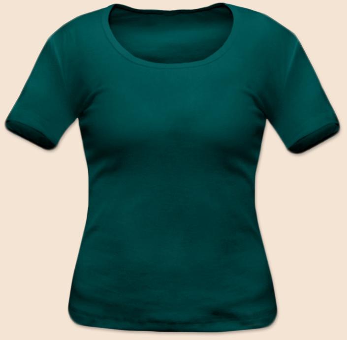Dámské tričko krátký rukáv zelenomodré