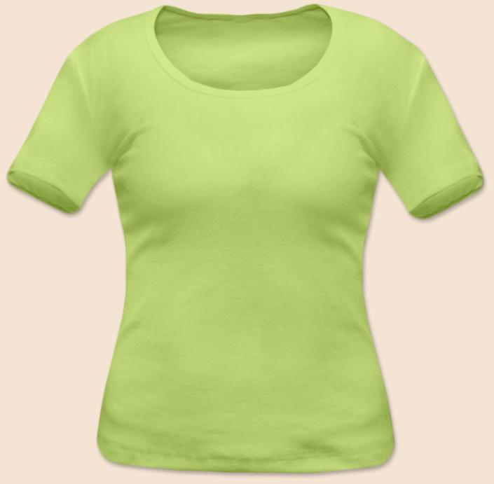 Dámské tričko krátký rukáv zelenkavé