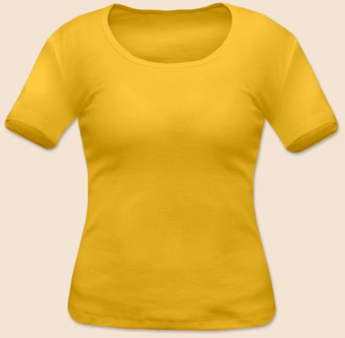 Dámské tričko krátký rukáv žluté