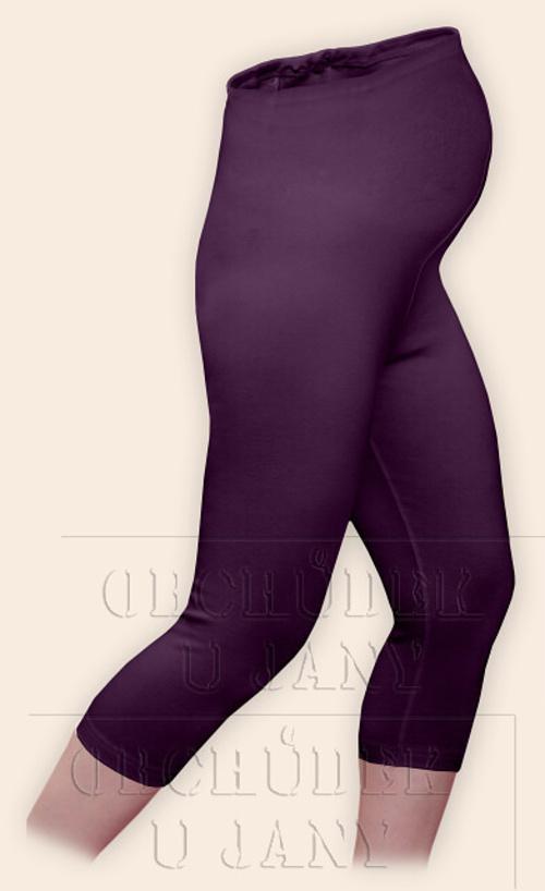 Těhotenské legíny capri fialové
