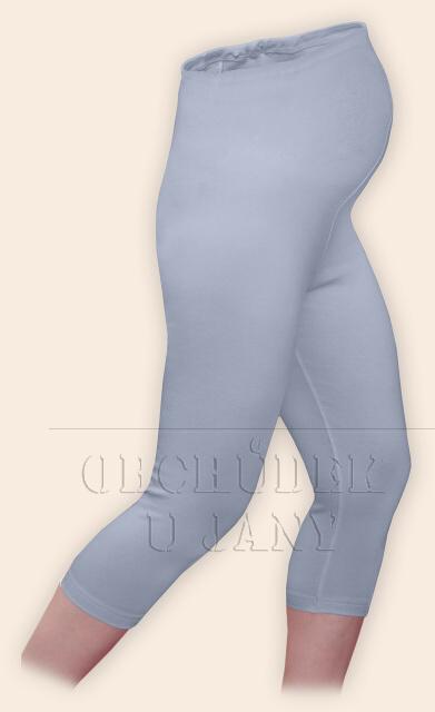 Těhotenské legíny capri modré pomněnkové