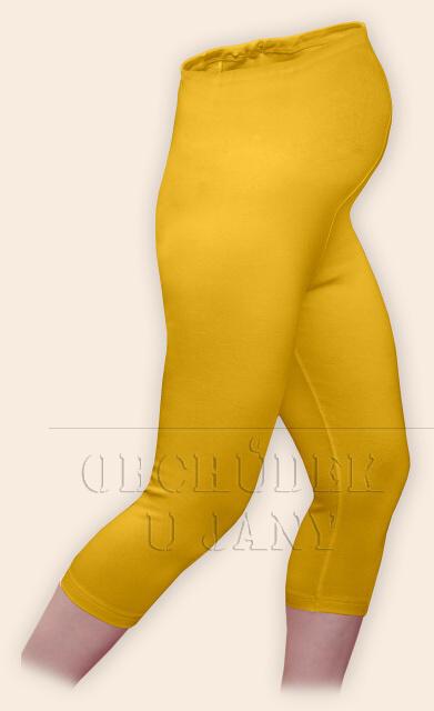 Těhotenské legíny capri žluté