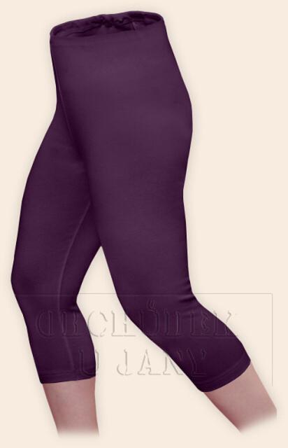 Dámské legíny capri fialové