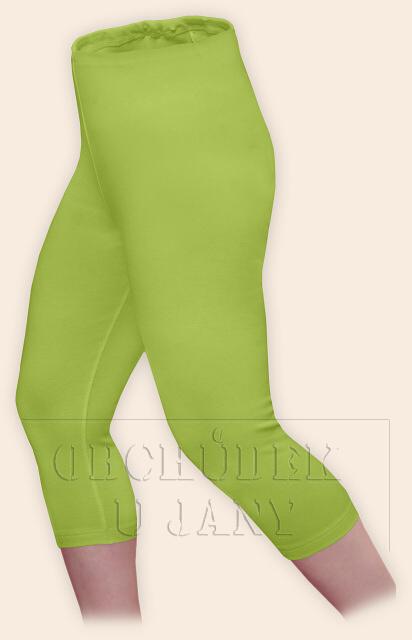 Dámské legíny capri zelené hráškové