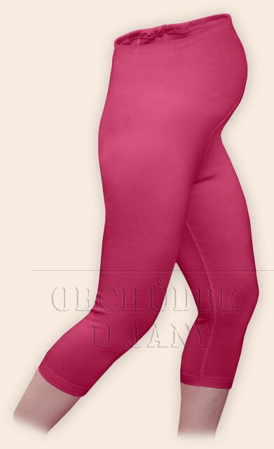 Těhotenské legíny capri růžové tmavé