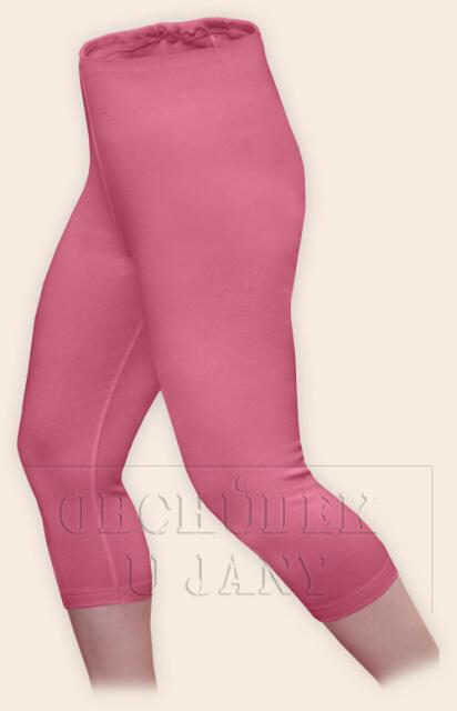 Dámské legíny capri růžové