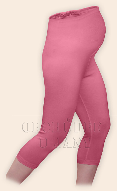 Těhotenské legíny capri růžové