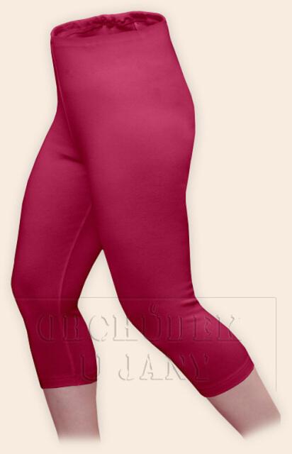 Dámské legíny capri růžové tmavé