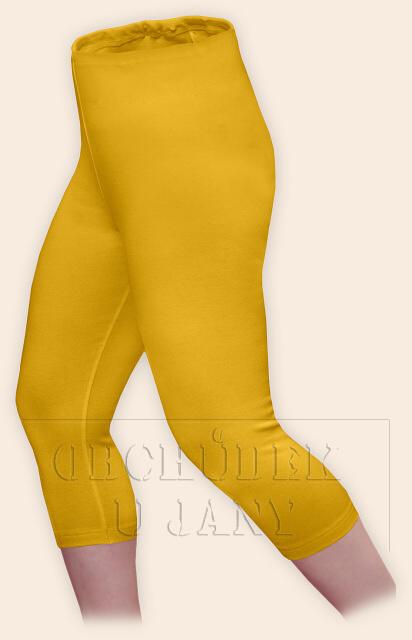 Dámské legíny capri žluté