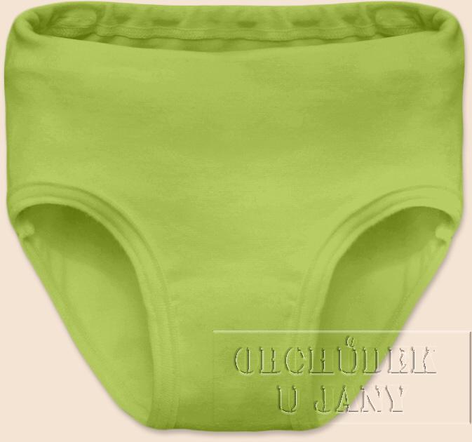 Dívčí kalhotky zelené hráškové