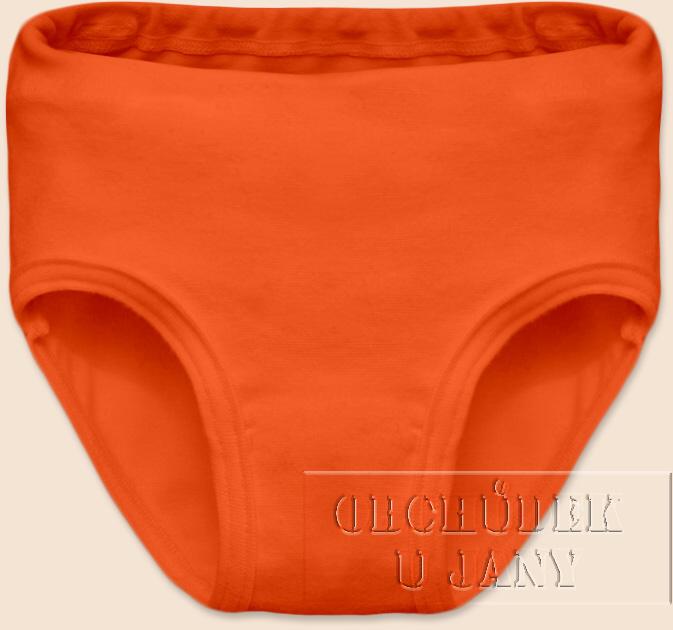 Dívčí kalhotky oranžové tmavé