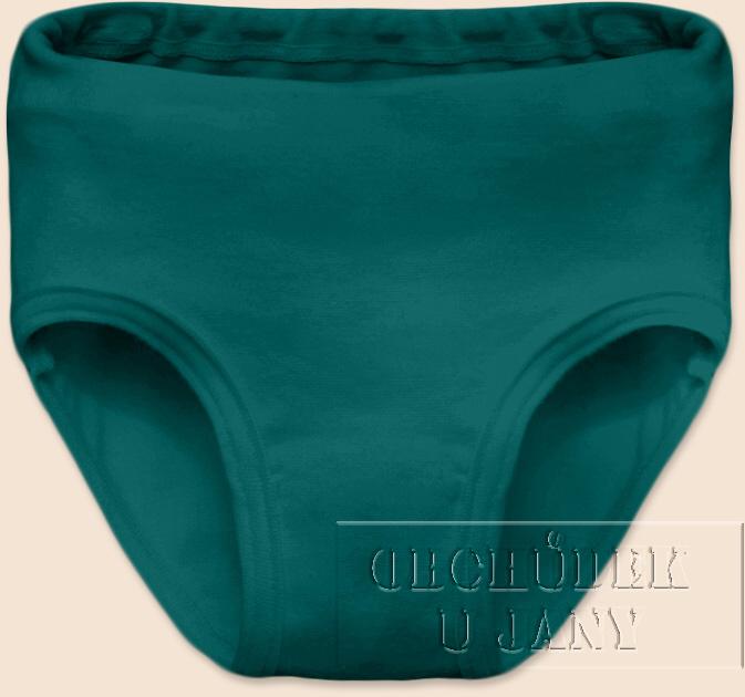 Dívčí kalhotky zelenomodré