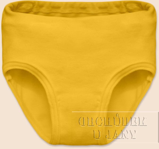 Dívčí kalhotky žluté