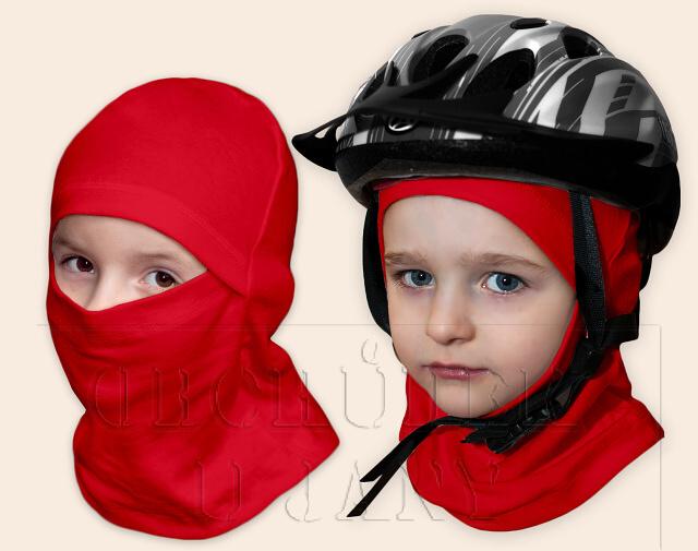 Kukla pod helmu červená