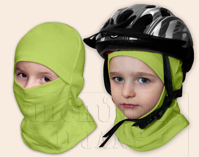 Kukla pod helmu zelená hrášková