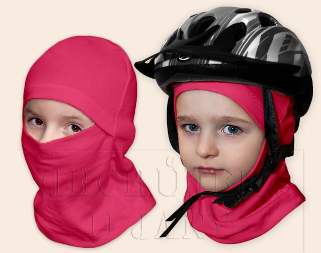Kukla pod helmu růžová tmavá